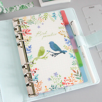 Beautiful Transparent Agenda Planner Notebook Separator Dividers Index Page Hot