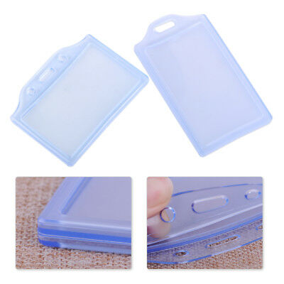 5x Clear Plastic Vertical Horizontal Business ID Card Badge Pocket Pouch Holder