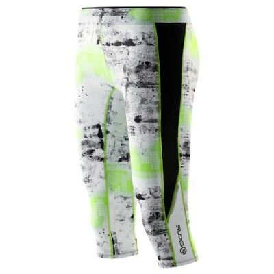 Skins A200 Women's 3/4 Compression Tights Lime XS