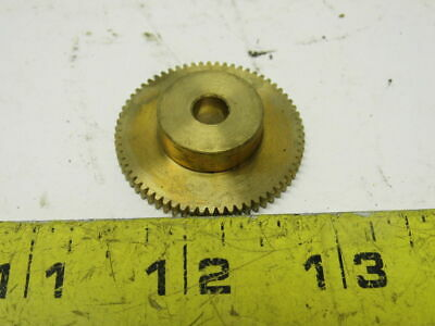 Boston Y4866  Bronze Spur Gear 48 Pitch 66 Tooth 1/4 Bore 1/8 Face