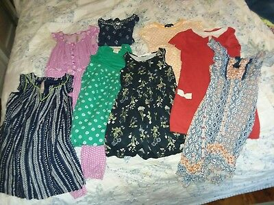 Girls 8 piece Lot  Dresses Size 4-5 H&M, Old Navy Lands End Target Hippie