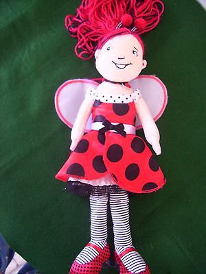 "Lana Ladybug Manhattan Toy Groovy  Girl  Plush Doll 14"" V.g. Clean"