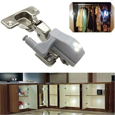4 x LED KITCHEN LIGHT CUPBOARD DOORS CABINET HINGES LIGHTING WARDROBE