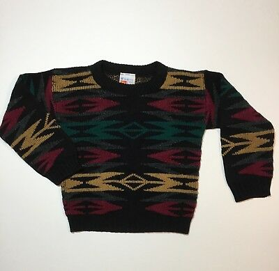Vintage McKids Hideous Ugly Christmas Sweater Bill Cosby 80's 90's Retro