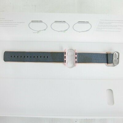 Apple Watch Woven Nylon Band 38mm Light Pink Midnight Blue MNK62AM/A