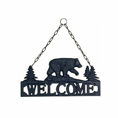 Black Bear Cast Iron Decorative Welcome Sign / Plaque for Indoor or Outdoor Use