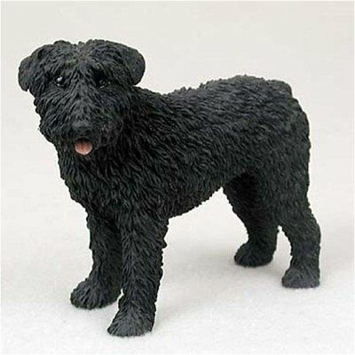 Bouvier, Uncropped Original Dog Figurine 4in-5in