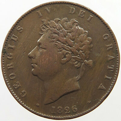GREAT BRITAIN HALF PENNY 1826   #pc 093