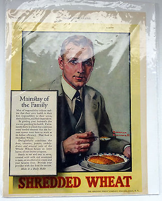 Norman Rockwell April 1927 Ladies Home Journal Shredded Wheat Ad Original