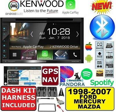 1998-2007 Ford Mercury Mazda Gps Navigation Cd/Dvd Apple Carplay Android Auto