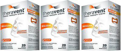 Theravent Snore Therapy Strips (Regular Strength) ( 3 Pack)