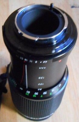Vivitar 80-200mm 1:4.5 Auto Zoom Camera Lens #28253623/ 58mm Lens made in Japan