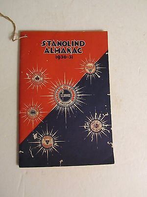 Vintage 1930-31 Standard Oil Company Indiana Stanolind Almanac Book