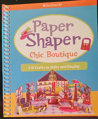 AMERICAN GIRL Doll Paper Shaper Chic Boutique Activity Book 3-D Craft Kit