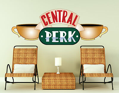 Central Perk Wall Decal Friends TV Show Coffee Sign Decal Sticker Friends LB53