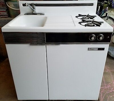 Dwyer Vintage Kitchenette Gas Stove Sink & Refigerator
