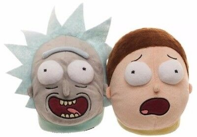 "Rick And Morty ""BESTIES"" 3-D Plush Slide On House Slippers"