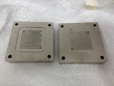 25cm2 titanium Single cell fuel cell test fixture serpentine flow field set#2