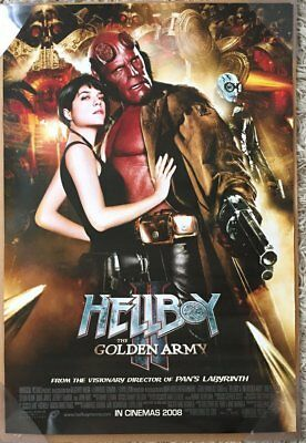 HELLBOY II 2 THE GOLDEN ARMY MOVIE POSTER 2 Sided VERY RARE ORIGINAL INTL 27x40