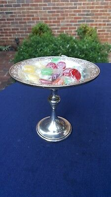 Vintage Quaker Sterling Silver Weighted Pedestal Candy / Bonbon Dish / Compote
