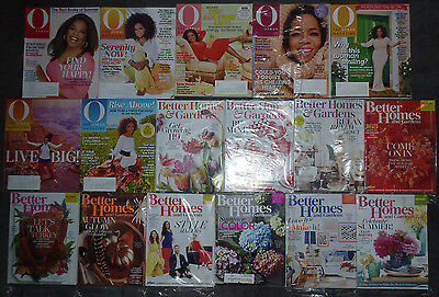 Lot of 17 Better Homes and Gardens Oprah magazines brand new most in plastic