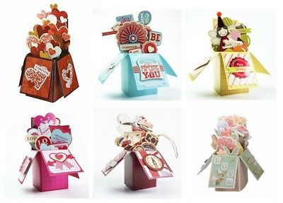 3 Cards in 1 pack Gift Greeting Card in a box Birthday Wedding Love Valentine