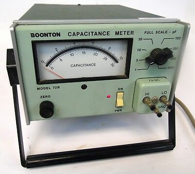 BOONTON 72B 1MHz 1-3000 pF Full Scale Test Equipment Analog Capacitance Meter
