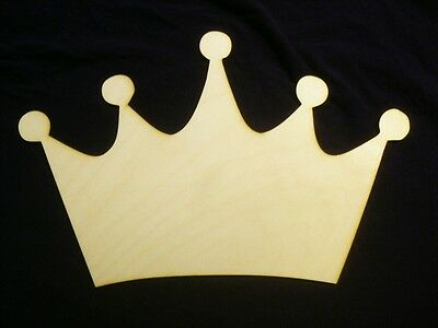 Princess Crown white  MDF Craft 32 X 20 inches DIY  wall decor Crown