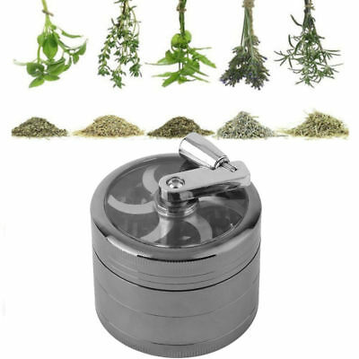 "Herb Grinder Crusher for Tobacco 4 Piece 2"" Metal Hand Muller Spice Silver 4PC H"