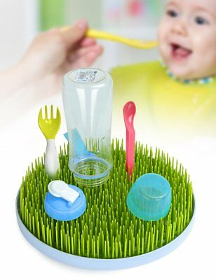 Round Patch Grass Green Benchtop Baby Bottle Teat Accessory Sink Drying Rack