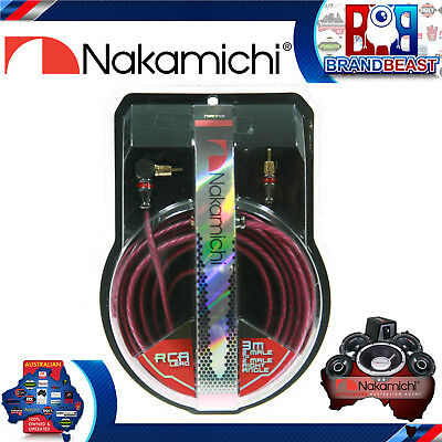 Nakamichi Nrca31 3m 2-channel Rca Right Angle Plug Lead Cable 3 Meter Signal