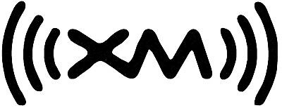 Xm Radio Pair of Two White Stickers 3width By 1 Height Each
