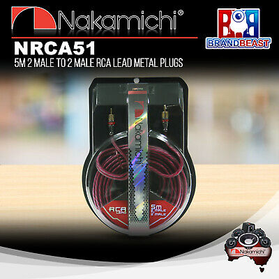 Nakamichi Nrca51 5m 2-channel Rca Interconnect Lead Cable 5 Meter Audio Signal