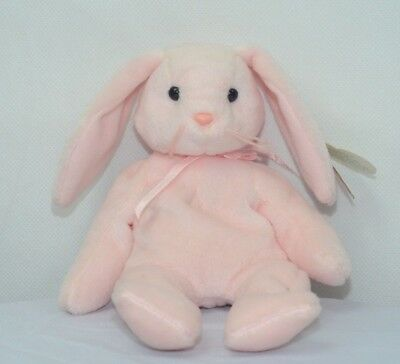 "Ty Beanie Babies 1996 Hoppity Pink Bunny ""Kids Plush Stuffed Animal Toy"