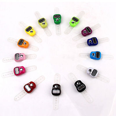 8pcDigit Digital LCD Electronic Golf Finger Hand Ring Knitting Row Tally Counter