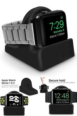 Night Stand Holder or Desk Dock for Apple Watch Charge Docking Station Black