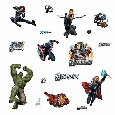 RoomMates RMK1741SCS Avengers Peel and Stick Wall Decals