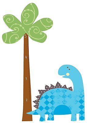 RoomMates RMK2024SLM Babysaurus Peel and Stick Growth Chart Wall Decals