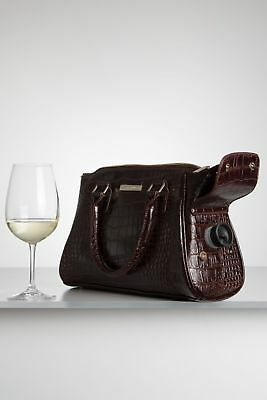 Brown Cool Wine Handbag Insulated Lunch Bags Cask Goon Bag - Alice Cool Clutch