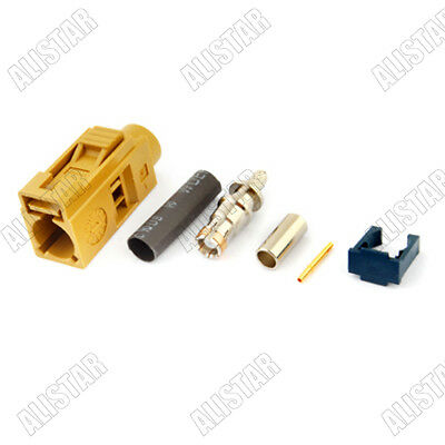 6pcs Fakra Curry Code K Female Connector Radio With IF for RG316 RG174 LMR100