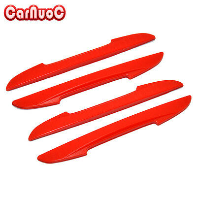 4X Car Door Side Edge Protector Red Guard Sticker Door Bumper Strip Carbon Fiber