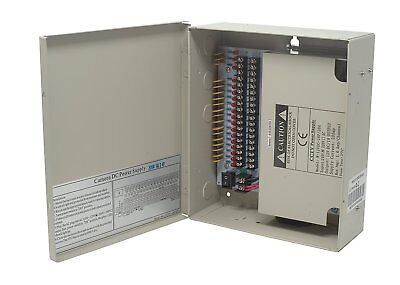 cctv distributed power supply box : 12v dc, 18 ports 20 amps