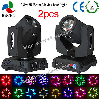 2x230W Sharp Beam Moving Head Light 7R For Party 16CH Touch Screen Ship From US