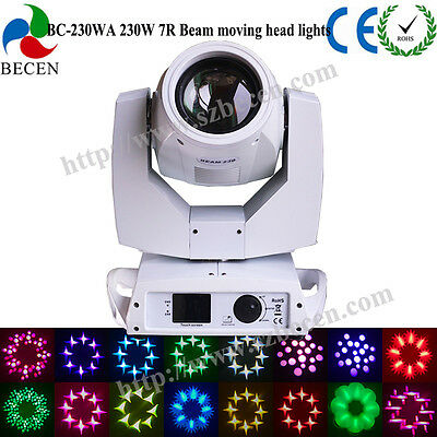 230W Sharp beam moving head light 7R for party 16CH touch screen for dj stage