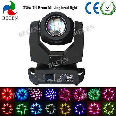230W Sharp beam moving head light 7R 8 Prism for party 16CH touch screen 1pcs