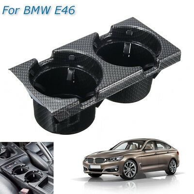 Front Center Console Can Drink Cup Holder Carbon For BMW 3Series E46 51168217953