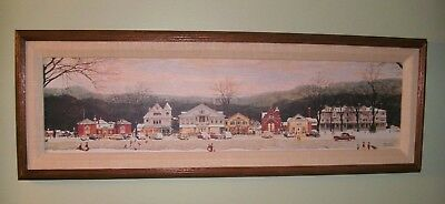 "Norman Rockwell's  ""Main Street Stockbridge"" 1991 Canvas Reproduction with COA"
