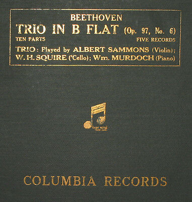 SAMMONS & SQUIRE & MURDOCH Beethoven: Trio in B Flat Op. 97, No. 6  78rpm   A272