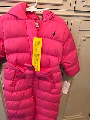 e3f23eb95 RALPH LAUREN BABY bunting snow suit with sash 24m Pink toddler girl ...