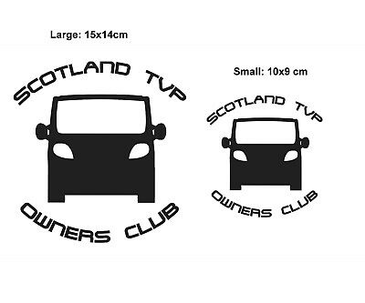Scotland TVP owners club stickers